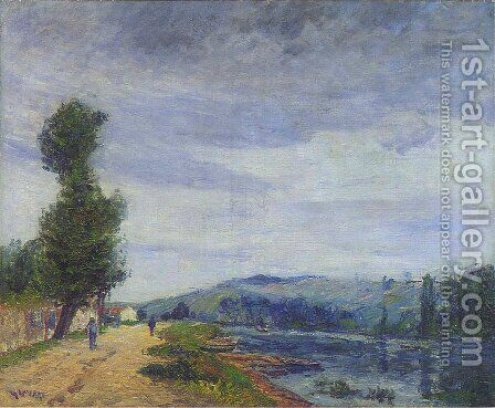 By the Seine   Stormy Weather by Gustave Loiseau - Reproduction Oil Painting