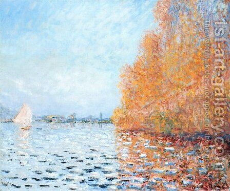The Siene at Argentuil 2 by Claude Oscar Monet - Reproduction Oil Painting