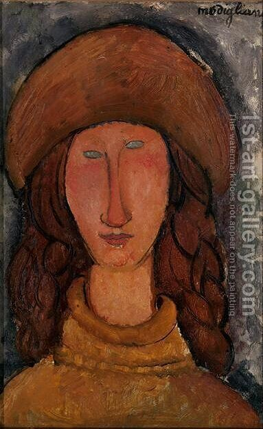 Jeanne Hebuterne 3 by Amedeo Modigliani - Reproduction Oil Painting