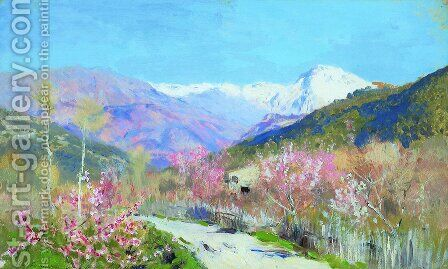 Spring in Italy by Isaak Ilyich Levitan - Reproduction Oil Painting