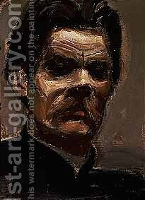 Portrait of Maxim Gorky by Akseli Valdemar Gallen-Kallela - Reproduction Oil Painting
