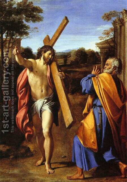 Lord, whither goest thou by Annibale Carracci - Reproduction Oil Painting