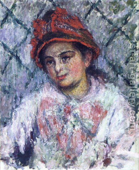 Blanche Hoschede by Claude Oscar Monet - Reproduction Oil Painting