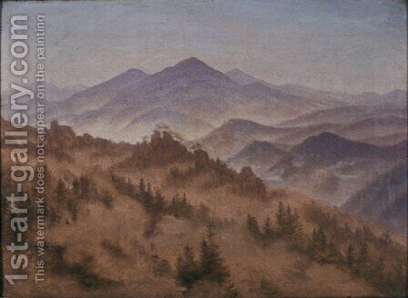 Landscape with the Rosenberg in Bohemian Switzerland by Caspar David Friedrich - Reproduction Oil Painting