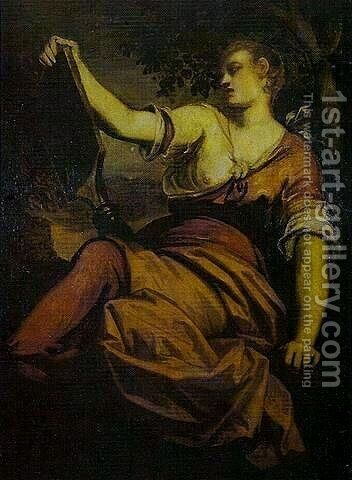 Allegory of Prudence by Jacopo Tintoretto (Robusti) - Reproduction Oil Painting