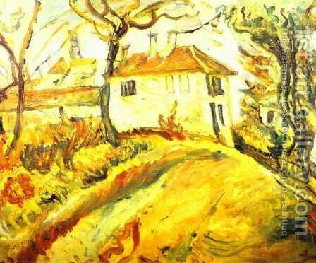 White House on a Hill by Chaim Soutine - Reproduction Oil Painting