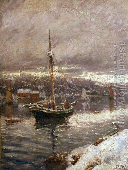unknown title by Carl-Edvard Diriks - Reproduction Oil Painting