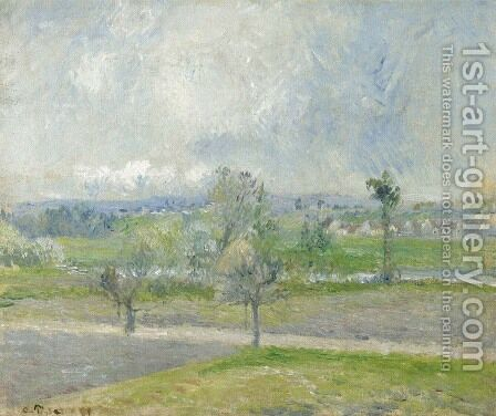 Valhermeil near Oise, Rain effect by Camille Pissarro - Reproduction Oil Painting