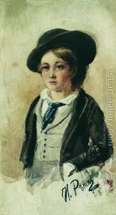 Portrait of a Boy by Ilya Efimovich Efimovich Repin - Reproduction Oil Painting