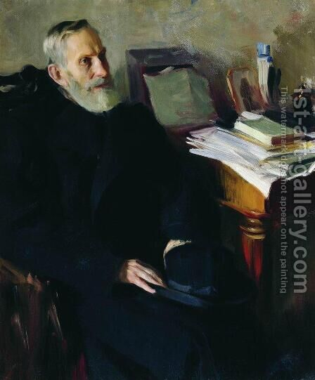 Portrait of Stjepan Nikolsky, uncle of the artist by Boris Kustodiev - Reproduction Oil Painting