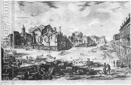 Vedute di Roma 86 by Giovanni Battista Piranesi - Reproduction Oil Painting