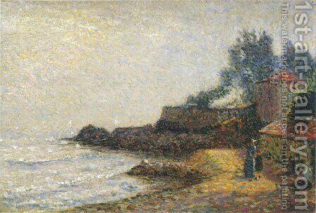 Mediterranean landscape by Henri Martin - Reproduction Oil Painting