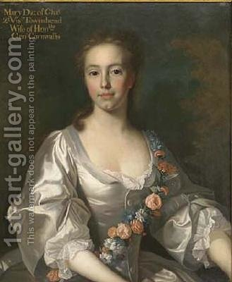 Hon. Mary Townshend, the daughter of Charles Townshend, 2nd Viscount Townshend of Raynham and Dorothy Walpole by Allan Ramsay - Reproduction Oil Painting