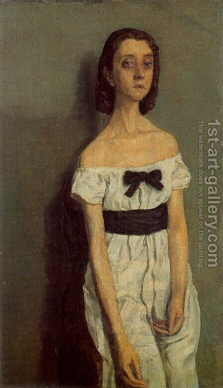 Girl with Bare Shoulders by Gwen John - Reproduction Oil Painting