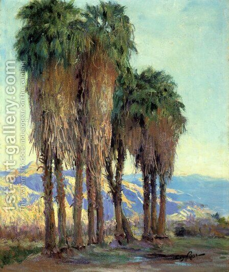 Palms by Guy Rose - Reproduction Oil Painting