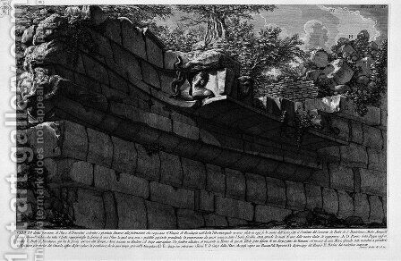The Roman antiquities, t. 4, Plate XV. Map of the Tiber Island and the two bridges that lead to it. by Giovanni Battista Piranesi - Reproduction Oil Painting