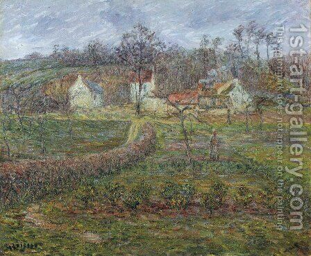 Landscape in a Valley by Gustave Loiseau - Reproduction Oil Painting