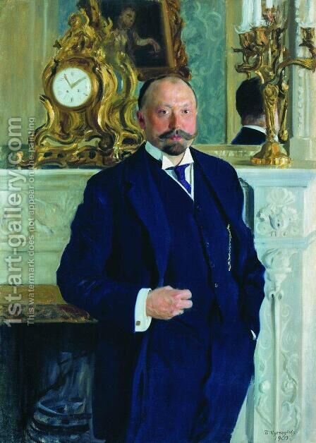 Portrait of P.L. Barc by Boris Kustodiev - Reproduction Oil Painting