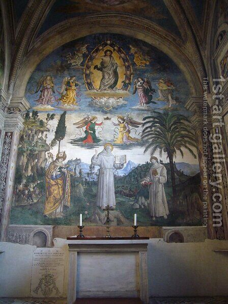 The Glory of St. Bernardino by Bernardino di Betto (Pinturicchio) - Reproduction Oil Painting