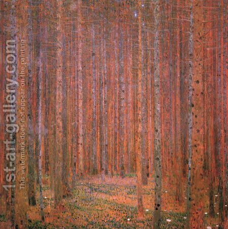 Fir Forest I by Gustav Klimt - Reproduction Oil Painting