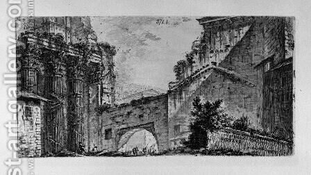 Temple of Janus by Giovanni Battista Piranesi - Reproduction Oil Painting