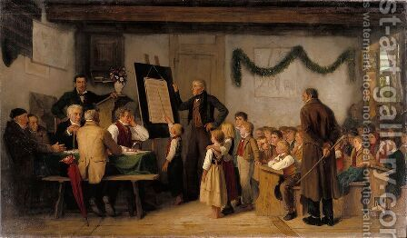 The school exam by Albert Anker - Reproduction Oil Painting
