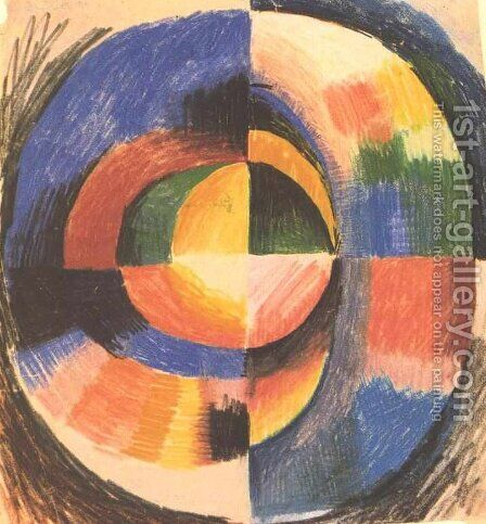 Colour circle by August Macke - Reproduction Oil Painting