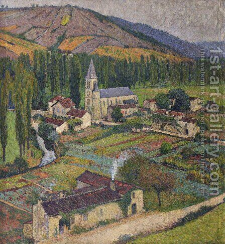 Church in the Village in Labastide du Vert by Henri Martin - Reproduction Oil Painting