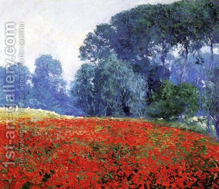Poppy Field by Guy Rose - Reproduction Oil Painting