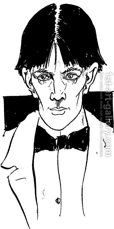 Self-portait 2 by Aubrey Vincent Beardsley - Reproduction Oil Painting