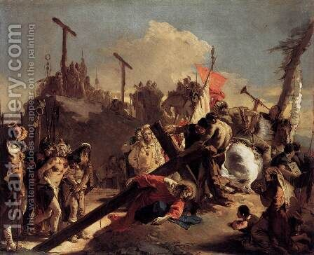Carrying the Cross by Giovanni Battista Tiepolo - Reproduction Oil Painting