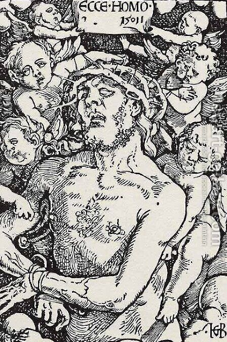 Man of Sorrows by Hans Baldung  Grien - Reproduction Oil Painting
