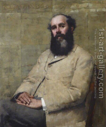 R. H. La Thangue (Portrait of the Artist's Father) by Henry Herbert La Thangue - Reproduction Oil Painting