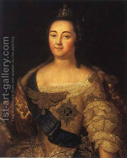 Portrait of Elizabeth of Russia by Aleksei Antropov - Reproduction Oil Painting