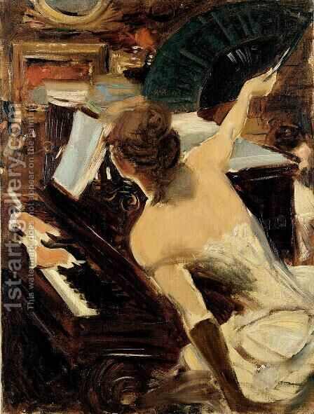 The Mondona Singer by Giovanni Boldini - Reproduction Oil Painting