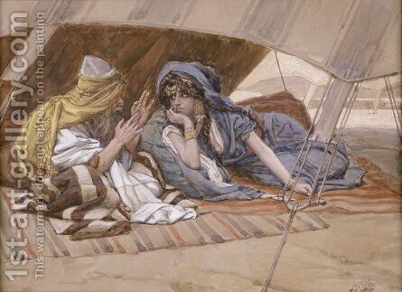 Abraham's Counsel to Sarai by James Jacques Joseph Tissot - Reproduction Oil Painting