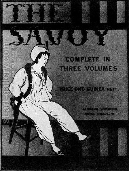 Design for the front cover of 'The Savoy Complete in Three Volumes' by Aubrey Vincent Beardsley - Reproduction Oil Painting