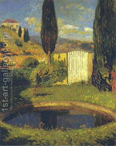 Garden at Labastide du Vert by Henri Martin - Reproduction Oil Painting