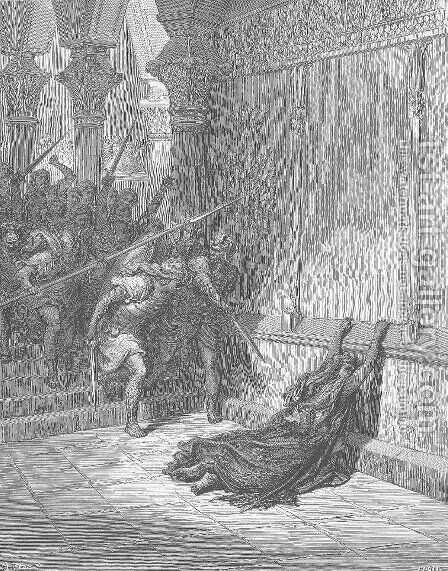 The Death of Athaliah by Gustave Dore - Reproduction Oil Painting