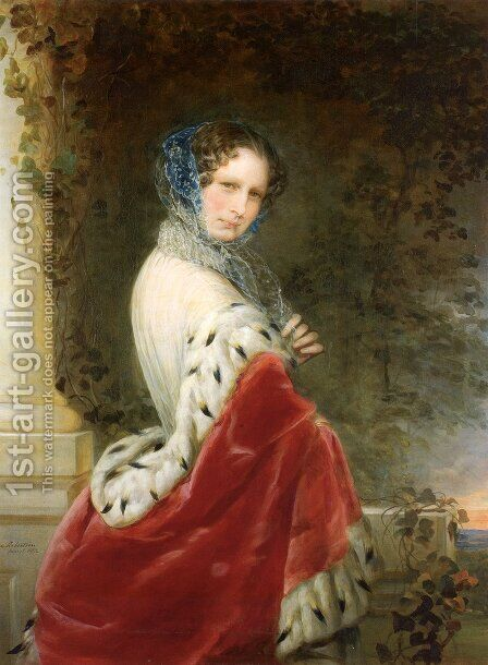 Portrait of Empress Alexandra Fyodorovna (Charlotte of Prussia) by Christina Robertson - Reproduction Oil Painting