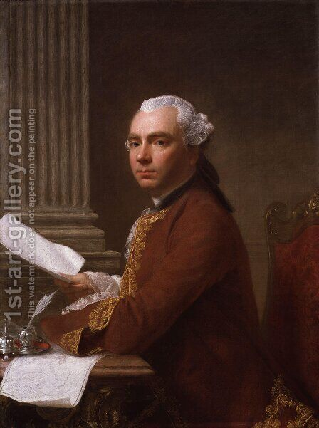 Robert Wood by Allan Ramsay - Reproduction Oil Painting