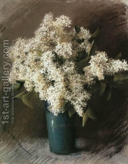 White Lilac by Isaak Ilyich Levitan - Reproduction Oil Painting