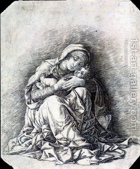 Virgin and Child (Madonna of Humility) by Andrea Mantegna - Reproduction Oil Painting