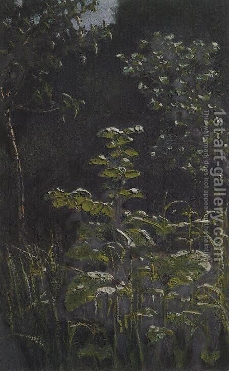 Forest. Burdock by Arkhip Ivanovich Kuindzhi - Reproduction Oil Painting