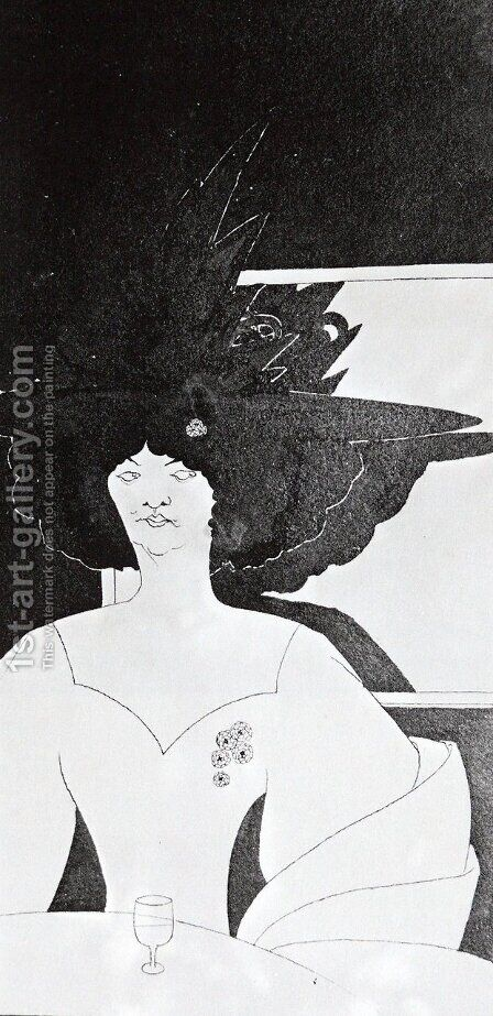 'Waiting' by Aubrey Vincent Beardsley - Reproduction Oil Painting
