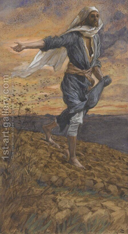 The Sower by James Jacques Joseph Tissot - Reproduction Oil Painting