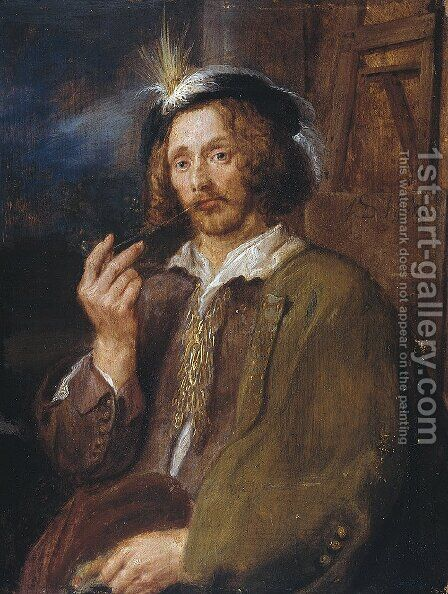 Jan Davidszoon de Heem by Adriaen Brouwer - Reproduction Oil Painting