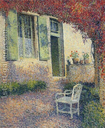 Garden Court by Henri Martin - Reproduction Oil Painting