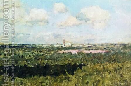 View of Novodevichy monastery by Isaak Ilyich Levitan - Reproduction Oil Painting