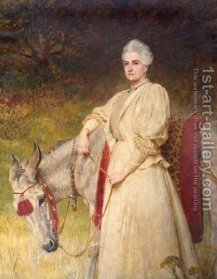 Lady Harriet Sarah Wantage by Briton Rivière - Reproduction Oil Painting
